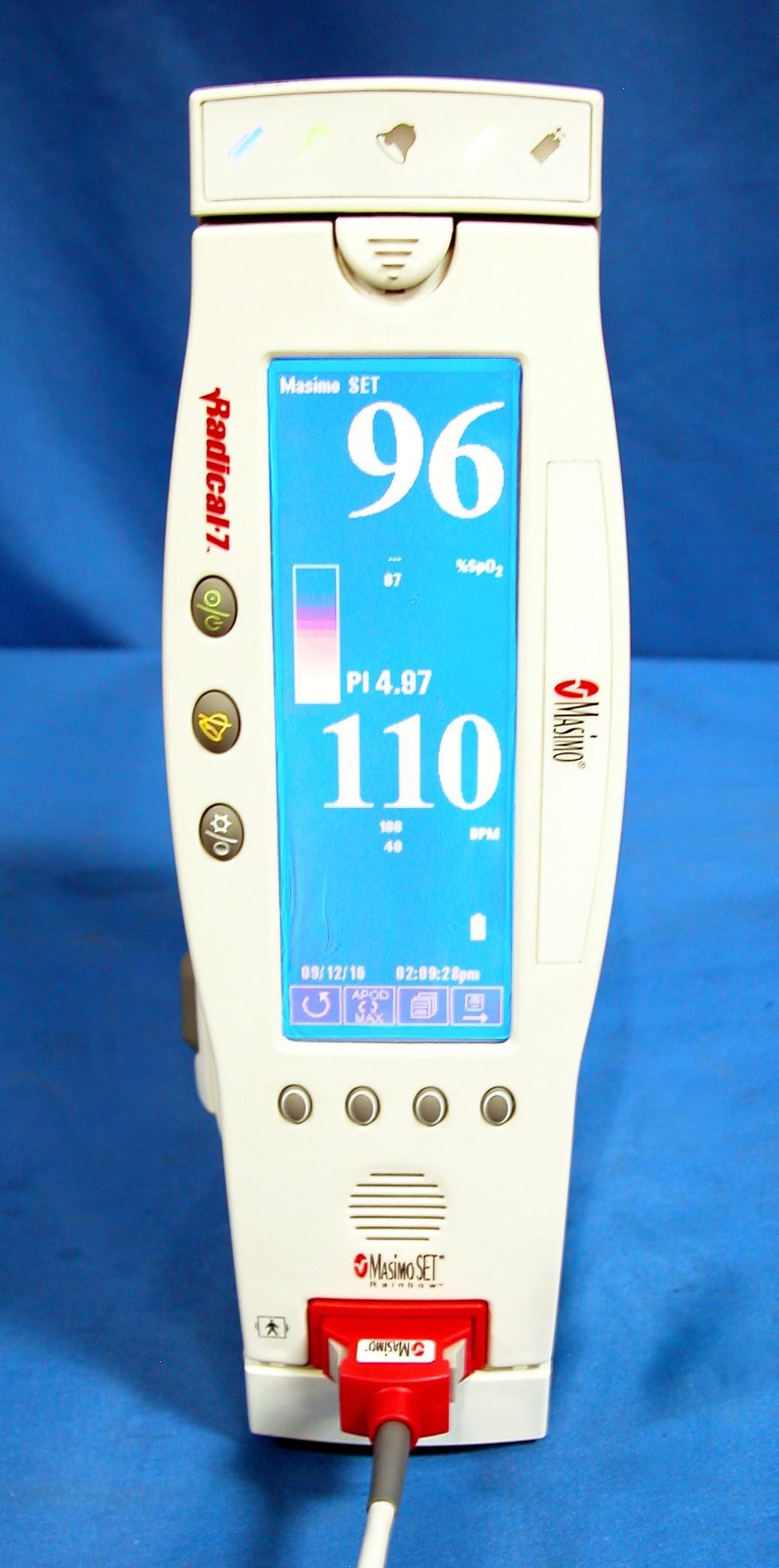 Masimo Pulse Oximeter >> Masimo Radical-7 Handheld Pulse Oximeter with Docking Station