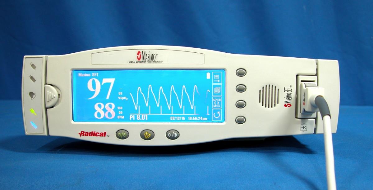Masimo Pulse Oximeter >> Masimo Radical Handheld Pulse Oximeter with Docking Station