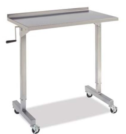 """NEW Whittemore Enterprises Stainless Steel OVER THE TABLE INSTRUMENT STAND  40""""L x 23""""W x adjusts from 39"""" - 62""""H"""