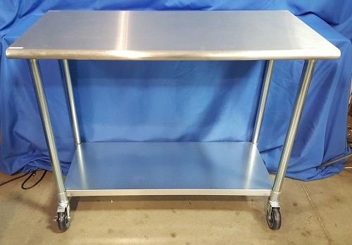 (New) WHITTEMORE Instrument Table With Shelf, 24in W x 48in L x 39in H