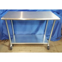 (New) WE Intrument Table With Shelf, 24in W x 48in L x 39in H
