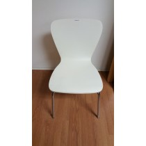 Waiting Room Chair, White Plast Seat-back,
