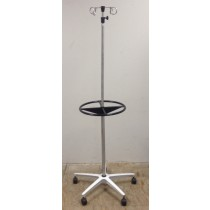Small Iv Pole-stand, 4-hook, 5-leg Base, Heavy