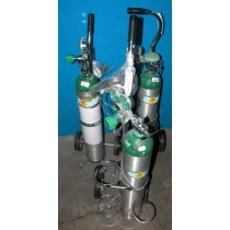 picture of oxygen tank cart