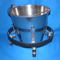 picture of -new- s-s kick bucket - stand and bowl