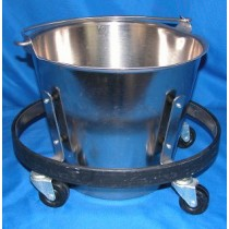 picture of (Used) Stainless Steel Kick Bucket & Stand