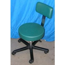 Small Midmark Pneumatic Stool With Back