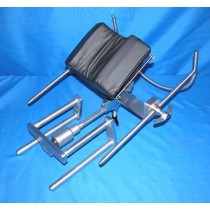 picture of amsco ophthalmic headrest with surgeon