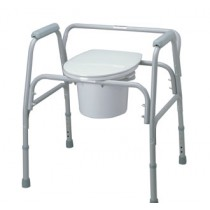 MISCELLANEOUS PORTABLE COMMODE CHAIRS WITH SIDE ARMS