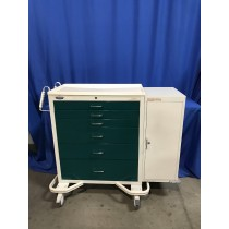 Armstrong A-Smart Wide 6 Drawer Crash Cart with side Cabinet.