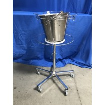 (Used) Tall Stainless Steel Kick Bucket & Stand