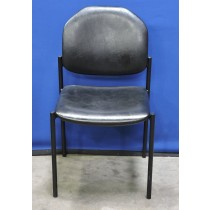 picture of Waiting Room Chair, Black Tubular Frame, Black Upholstery