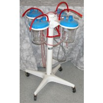 picture of 4-ring canister stand on wheels