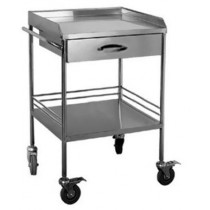 Whittemore Utility Table With Drawer, shelf